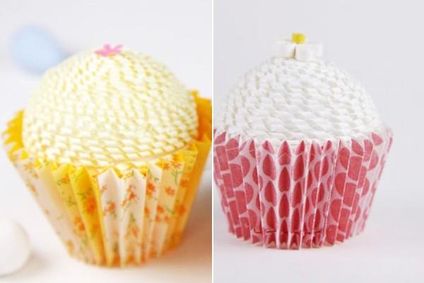 Khéo tay làm hộp quà đựng kẹo hình bánh cupcake 8
