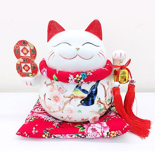 Mèo Thần Tài giơ 2 tay - Tài Lộc Phú Quý 9005