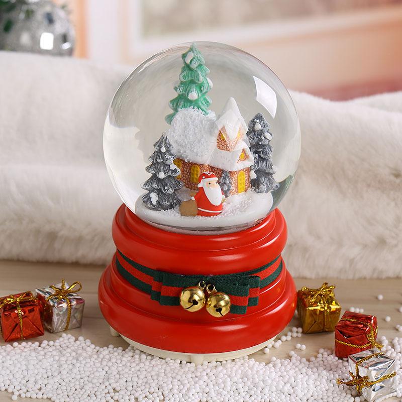 Hộp nhạc quả cầu tuyết ngôi nhà giáng sinh