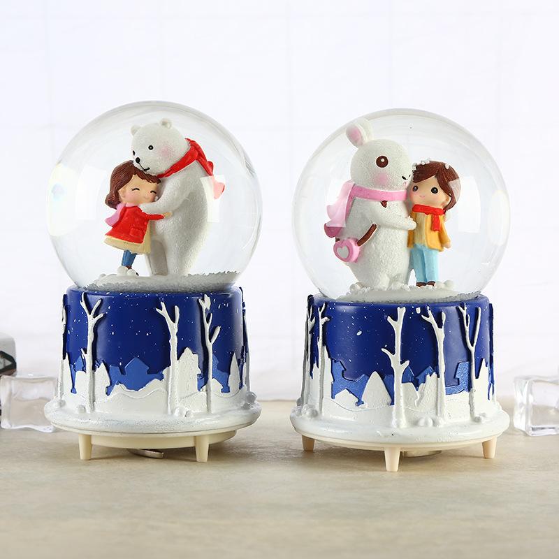 Hộp nhạc quả cầu tuyết mùa đông không lạnh