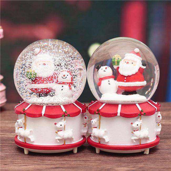 Hộp nhạc quả cầu tuyết giáng sinh