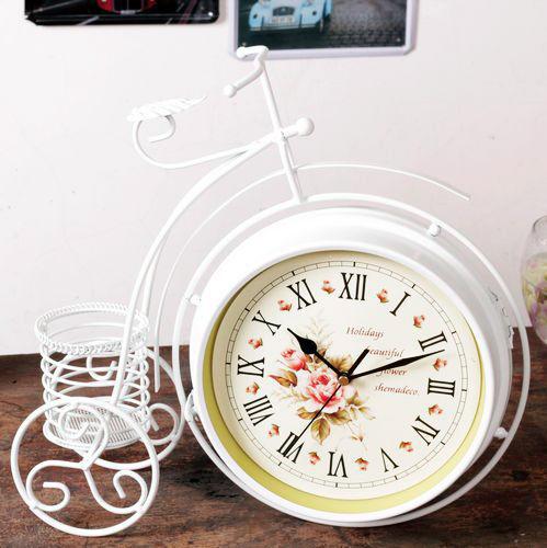 đồng hồ để bàn xe đạp bánh cao nghệ thuật