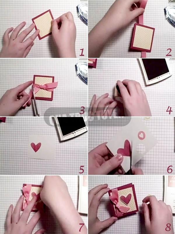 Cách làm thiệp trái tim mini xinh xắn