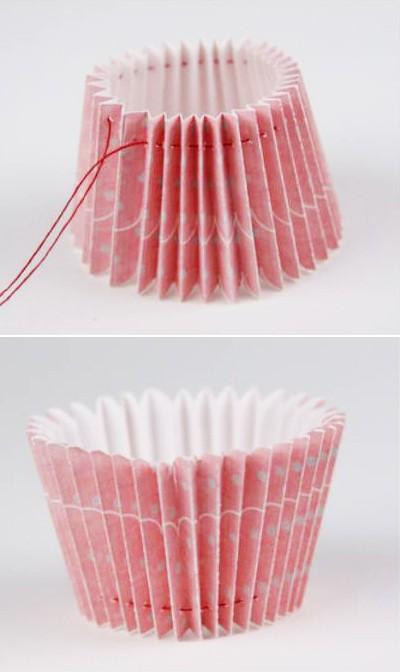 Khéo tay làm hộp quà đựng kẹo hình bánh cupcake 3