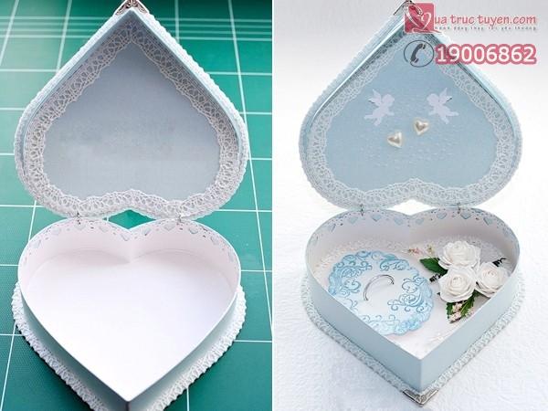 Khéo tay làm hộp quà trái tim thật đẹp 20
