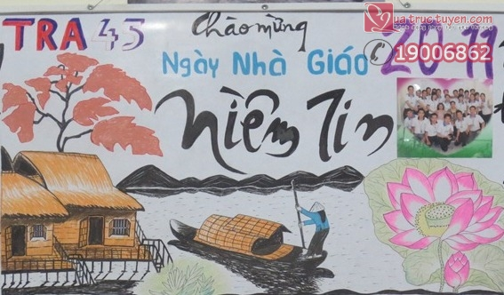 Niềm tin cũng được nhiều người lựa chọn để làm báo tường chào mừng ngày Nhà giáo Việt Nam