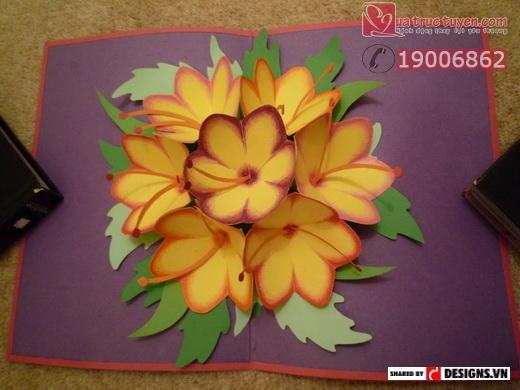Hướng dẫn làm thiệp hoa 3D cho ngày 20/11