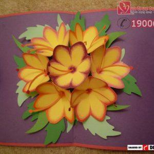 Cách làm thiệp 3D hình hoa cho ngày 20/11