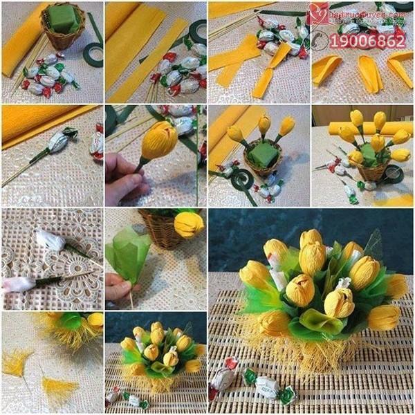 Bộ sưu tập cách làm bình hoa giấy đẹp lung linh 1