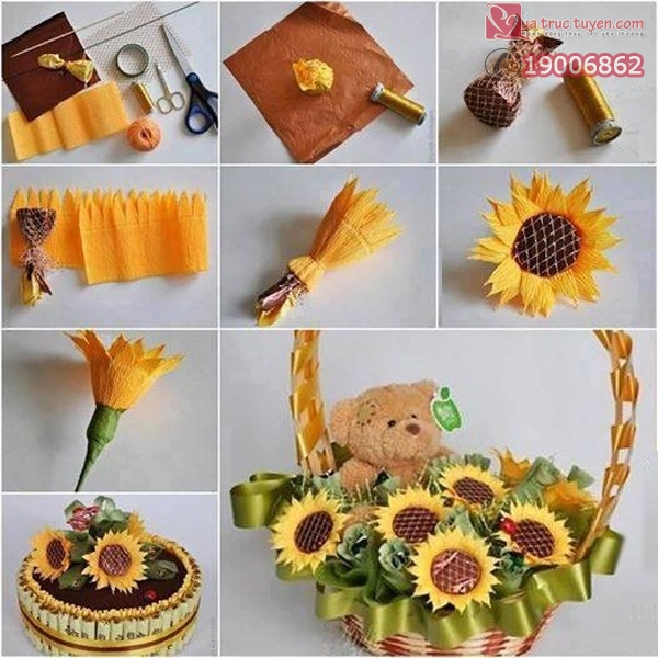 Bộ sưu tập cách làm bình hoa giấy đẹp lung linh 2
