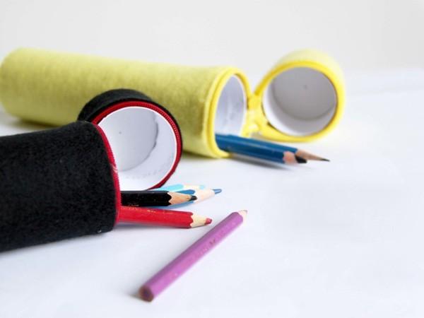 Tận dụng lõi giấy làm hộp đựng bút siêu tiện lợi 10