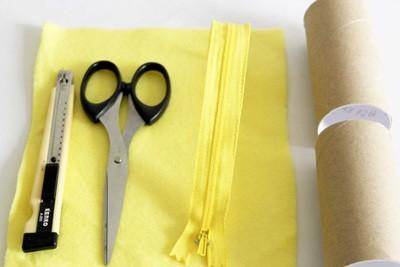 Tận dụng lõi giấy làm hộp đựng bút siêu tiện lợi 1